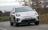 12 Kia e Niro 39kWh 2021 UK first drive review cornering front