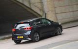 Kia Rio GT Line 2018 UK first drive review cornering rear