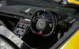Lamborghini Huracan Performante Spyder 2018 UK review cockpit