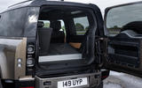 Land Rover Defender 90 P400 X 2020 UK first drive review - boot