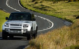 12 Land Rover Defender 90 D250 2021 UK first drive review on road front