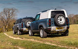 12 Land Rover Defender Hard Top Commercial 90 UK FD pair static rear