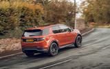 Land Rover Discovery Sport 2019 UK first drive review - cornering rear