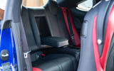 Lexus RC F with track pack 2019 first drive review - rear seats