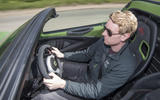 Lotus Exige Sport 410 2018 review Ricky driving above