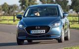 Mazda 2 Sport Nav 2020 UK first drive review - cornering front