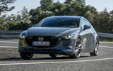Mazda 3 2019 European first drive review - cornering front