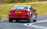 Mazda 6 2018 first drive review on the road rear