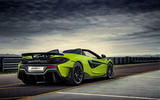McLaren 600LT Spider 2019 first drive review - static rear