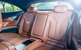 Mercedes-Benz S560 Coupe 2018 UK review rear seats