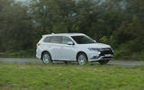 Mitsubishi Outlander PHEV 2018 first drive review on the road side