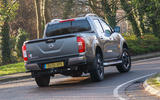 Nissan Navara 2020 UK first drive review - on the road rear