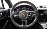 Porsche Cayenne E-Hybrid 2018 review steering wheel