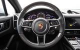 Porsche Cayenne E-Hybrid 2018 review steering wheel
