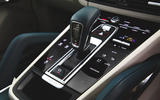Porsche Cayenne Turbo S E-Hybrid 2020 UK first drive review - gearstick