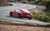 Porsche Cayman T 2019 first drive review - cornering rear