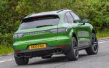 Porsche Macan S 2019 UK first drive review - cornering rear