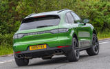 Porsche Macan S 2019 UK first drive review - cornering rear