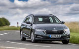 12 Skoda Octavia E Tec hybrid 2021 UK first drive review on road front
