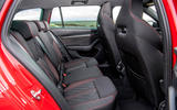 Skoda Octavia vRS Estate 2020 UK first drive review - rear seats