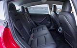 Tesla Model 3 2018 review rear seats