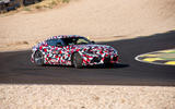 Toyota Supra 2019 prototype first drive review drift front