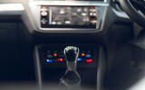 Volkswagen Tiguan Life 2020 UK first drive review - gearstick