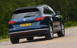 Volkswagen Touareg 3.0 TSI 2019 UK first drive review - cornering rear