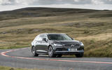 Volvo V90 B5 2020 UK first drive review - cornering front