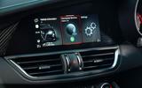 Alfa Romeo Giulia Quadrifoglio 2020 UK first drive review - infotainment