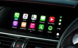 Alfa Romeo Stelvio Quadrifoglio 2018 UK RHD first drive - infotainment carplay