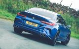 13 Alpina B8 Gran Coupe 2021 UK FD cornering rear