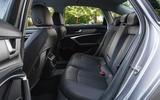 13 Audi A6 TFSIe 2021 UK first drive review rear seats