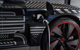 Audi RS E-tron GT 2021 prototype drive - charging port