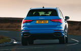 Audi Q3 45 TFSI 2019 first drive review - on the road rear