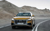Audi Q8 2018 first drive review cornering front