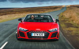 Audi R8 Spyder 2019 UK first drive review - on the road nose