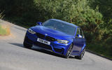 BMW M3 CS 2018 UK first drive review cornering front