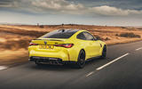 13 BMW M4 2021 UK first drive review on road rear