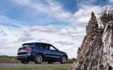 BMW X3 xDrive30e 2020 UK first drive review - static rear