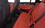 BMW X3 M Competition 2019 first drive review - rear seats