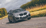 BMW X3 M Competition 2019 UK first drive review - cornering front