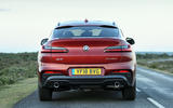BMW X4 2018 UK first drive review on the road rear