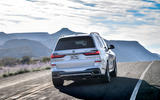 BMW X7 M50i 2020 first drive review - tracking rear