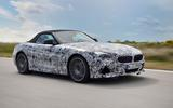 BMW Z4 prototype drive 2018 road roof up