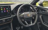13 Cupra Leon Estate 2021 UK FD steering wheel