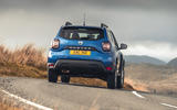 13 Dacia Duster diesel 4x4 2021 UK first drive review cornering rear