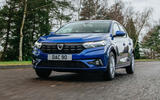 13 Dacia Sandero BiFuel 2021 UK first drive on road front
