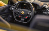 Ferrari F8 Tributo Spider 2020 UK first drive review - steering wheel