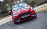 Ford Fiesta ST 2018 review cornering front